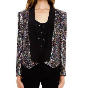 NWT Rebecca Minkoff Becky multi sequin jacket XS